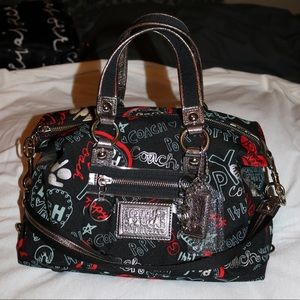 Coach Poppy Shoulder Handbag Black
